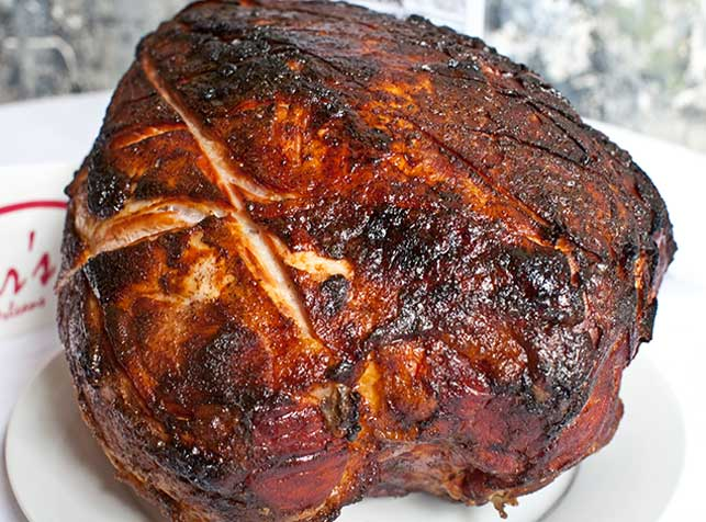 Baked ham at Mother's Restaurant